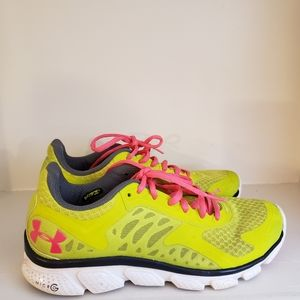 Under Armour Micro G Mpz Yellow Pink Size 7